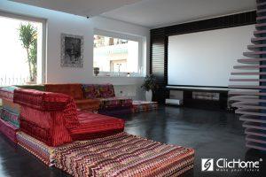 appartamento domotico con sistema home cinema