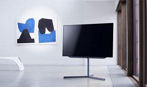 loewe bild 7 tv di design con installazione da terra