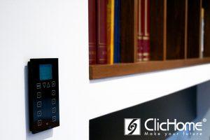 comandi di design a sfioro con display per la domotica