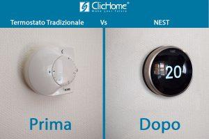confronto tra termostato tradizionale e termostato domotico